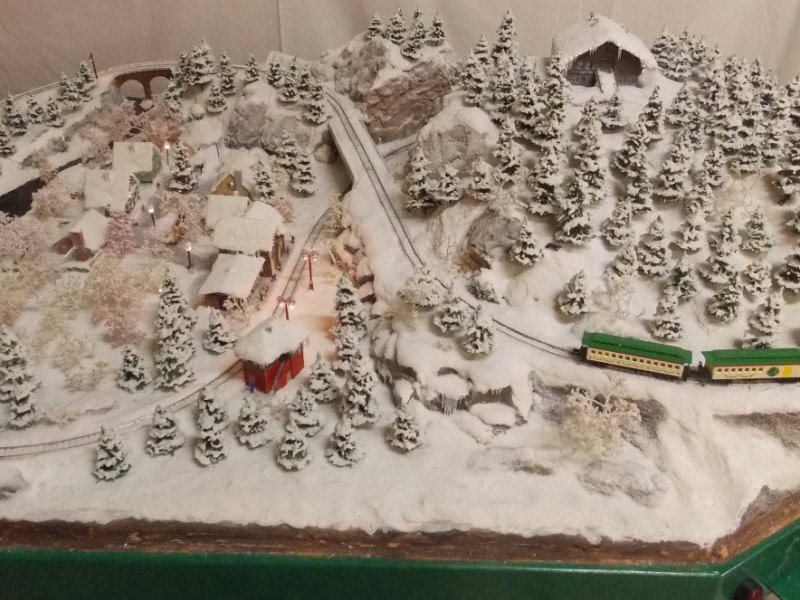 Christmas model train : Layout
