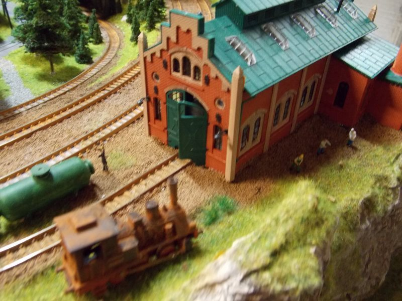 One stall engine shed with boiler room