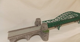 Handcrafted scale bridge at Remagen